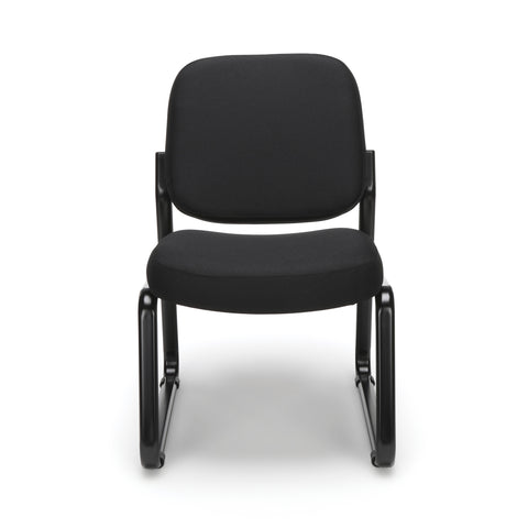 OFM Model 405 Fabric Armless Guest and Reception Chair, Black ; UPC: 811588014309 ; Image 2