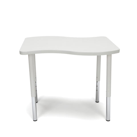 "OFM Adapt Series Small Wave Standard Table - 23-31"" Height Adjustable Desk, Gray Nebula (WAVE-S-LL) ; UPC: 845123097045 ; Image 2"