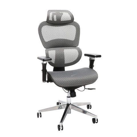 OFM Core Collection Ergo Office Chair featuring Mesh Back and Seat with Head Rest, in Gray (540-GRY) ; UPC: 192767000390 ; Image 1