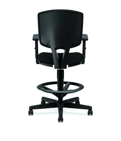 HON Volt Task Stool | Extended Height, Footring | Adjustable Arms | Black Fabric ; UPC: 192767001021 ; Image 3