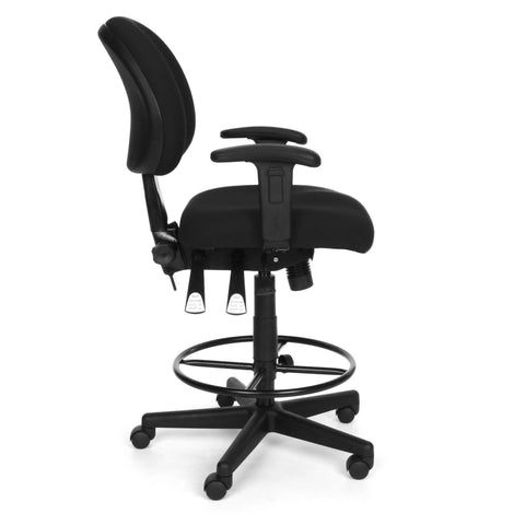 OFM Model 241-AA-DK 24-Hour Ergonomic Multi-Adjustable Upholstered Task Chair with Arms and Drafting Kit, Black ; UPC: 845123031391 ; Image 4