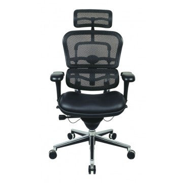 Eurotech_Ergohuman High Back Chair Mesh and Leather EUTLEM4ERGBLK_