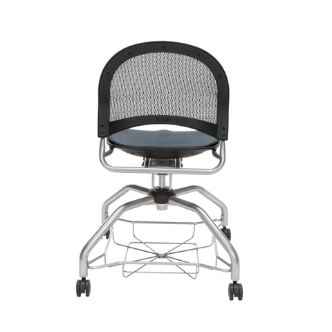 OFM Moon Foresee Series Chair with Removable Fabric Seat Cushion - Student Chair, Slate Gray (339) ; UPC: 845123094464 ; Image 3