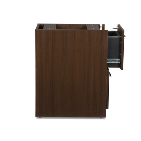 OFM Fulcrum Series Locking Pedestal, 2-Drawer Filing Cabinet, Espresso (CL-FF-ESP) ; UPC: 845123097489 ; Image 7