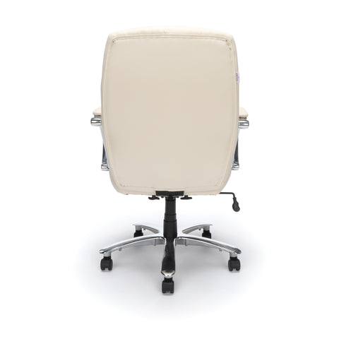 OFM  811-LX Leather Mid-Back Big and Tall Executive Chair, Cream ; UPC: 845123023365 ; Image 3