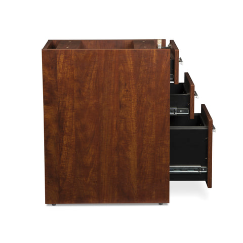OFM Fulcrum Series Locking Pedestal, 3-Drawer Filing Cabinet, Cherry (CL-BBF-CHY) ; UPC: 845123097465 ; Image 6