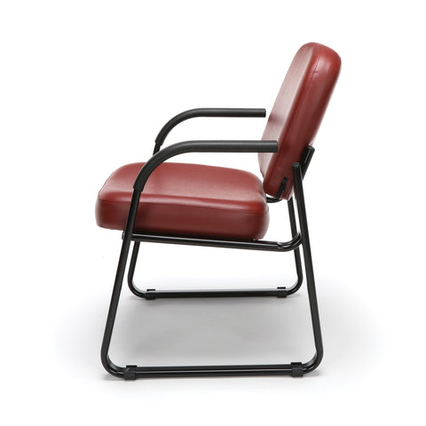 OFM Model 403-VAM Guest and Reception Chair with Arms, Anti-Microbial/Anti-Bacterial Vinyl, Wine ; UPC: 811588014187 ; Image 5