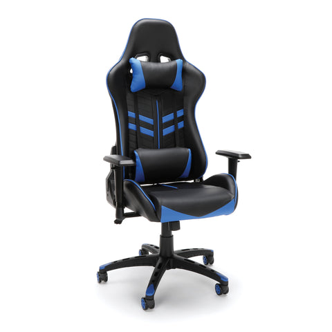Essentials by OFM ESS-6065 Racing Style Gaming Chair, Blue ; UPC: 845123095355 ; Image 1