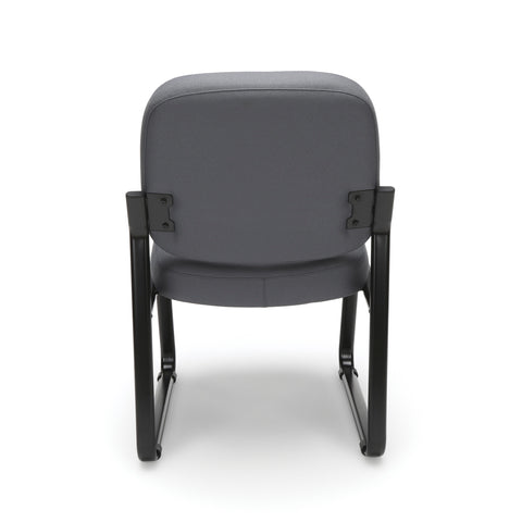 OFM Model 405 Fabric Armless Guest and Reception Chair, Gray ; UPC: 811588014248 ; Image 3
