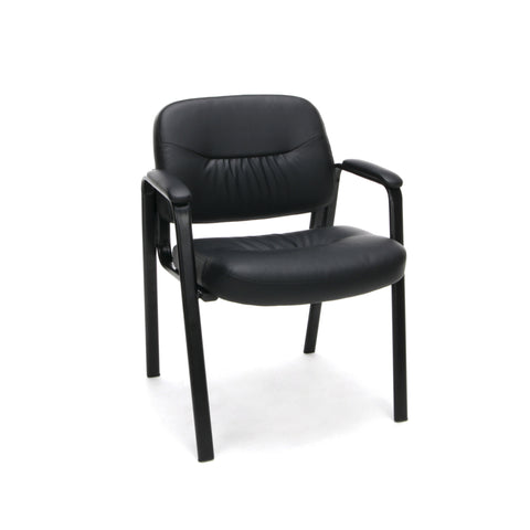 Essentials by OFM ESS-9010 Bonded Leather Executive Side Chair, Black ; UPC: 845123089408 ; Image 1