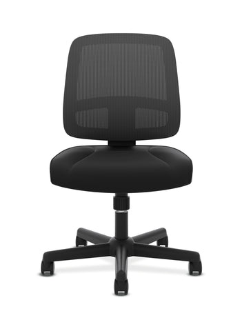 HON ValuTask Task Chair, Mesh Back Computer Chair for Office Desk, Black (HVL205) ; UPC: 089191179368 ; Image 2