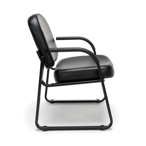 OFM Model 403-VAM Guest and Reception Chair with Arms, Anti-Microbial/Anti-Bacterial Vinyl, Black ; UPC: 811588014224 ; Image 4