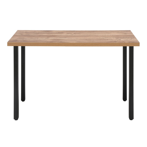 "OFM Essentials Collection 48"" Table Desk, Knotty Oak Woodgrain (ESS-1051-BLK-KOA) ; UPC: 192767000147 ; Image 2"