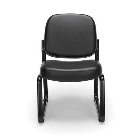 OFM Model 405-VAM Armless Guest and Reception Chair, Anti-Microbial/Anti-Bacterial Vinyl, Black ; UPC: 811588014361 ; Image 2
