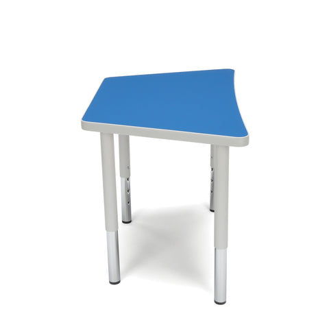 OFM Adapt Series Trapezoid Student Table - 18-26? Height Adjustable Desk, Blue (TRAP-SL) ; UPC: 845123096345 ; Image 4