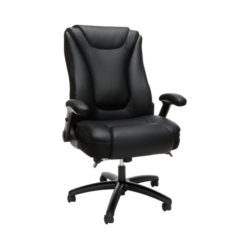 OFM Essentials Series Ergonomic Executive Bonded Leather Office Chair, in Black(ESS-6047-BLK) ; UPC: 192767000314 ; Image 1
