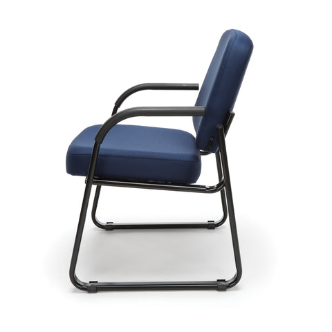 OFM Model 403 Fabric Guest and Reception Chair with Arms and Extra Thick Cushion, Navy ; UPC: 811588014149 ; Image 5