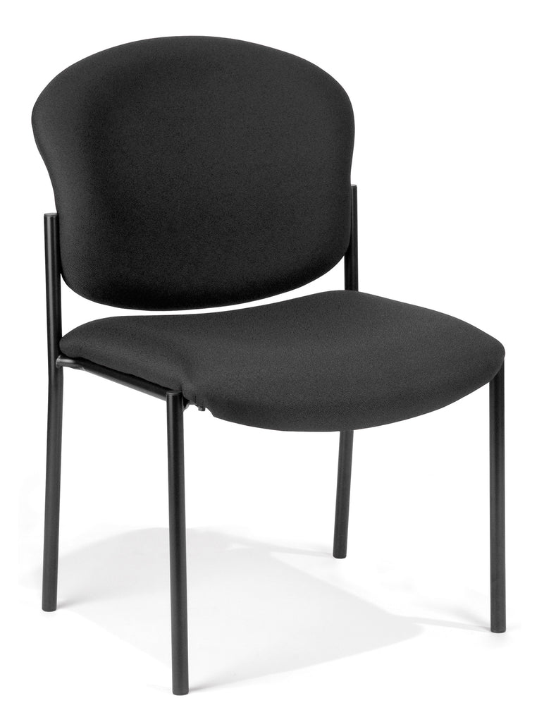 OFM 408-805 Armless Stack Chair, Black ; UPC: 811588013180 ; Image 1