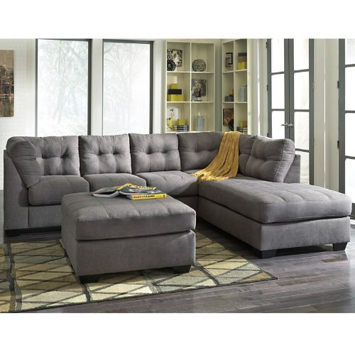 Flash Furniture Benchcraft Maier Sectional with Right Side Facing Chaise in Charcoal Microfiber FBC2349RFSECCRCGG ; Image 2 ; UPC 889142003830
