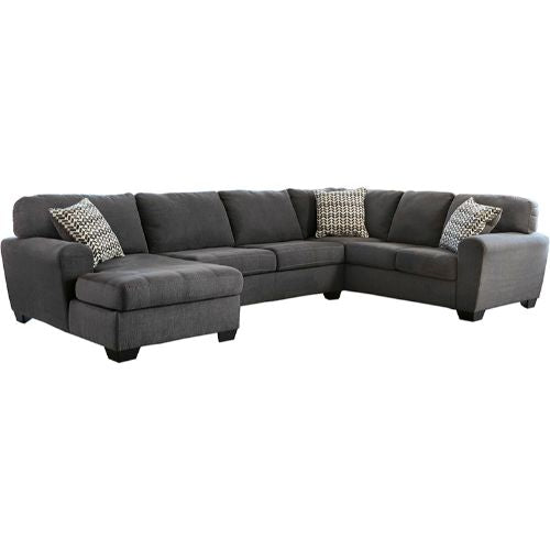 Flash Furniture Benchcraft Sorenton 3-Piece Right Side Facing Sofa Sectional in Slate Fabric FBC2869SEC3RAFSSLAGG ; Image 2 ; UPC 889142086185