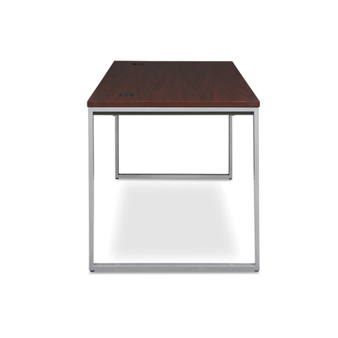 OFM Fulcrum Series 72x30 Desk, Minimalistic Modern Office Desk, Mahogany (CL-D7230-MHG) ; UPC: 845123097137 ; Image 4