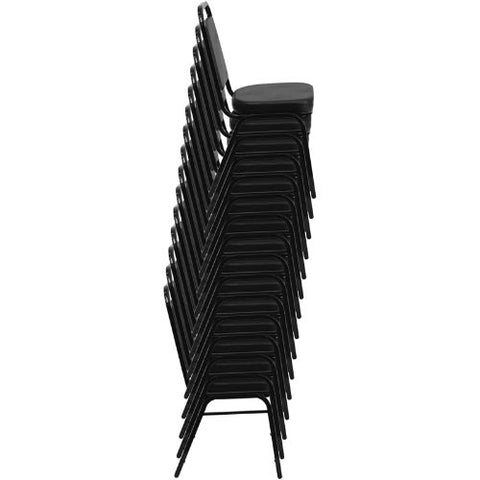 Flash Furniture HERCULES Series Trapezoidal Back Stacking Banquet Chair in Black Vinyl - Black Frame FDBHF1GG ; Image 5 ; UPC 847254006736