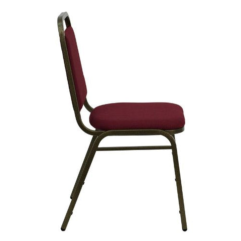 Flash Furniture HERCULES Series Trapezoidal Back Stacking Banquet Chair in Burgundy Fabric - Gold Vein Frame FDBHF2BYGG ; Image 2 ; UPC 812581019179