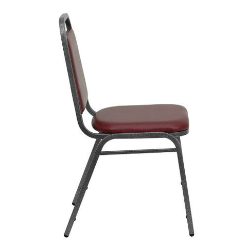 Flash Furniture HERCULES Series Trapezoidal Back Stacking Banquet Chair in Burgundy Vinyl - Silver Vein Frame FDBHF2BYVYLGG ; Image 2 ; UPC 812581019186