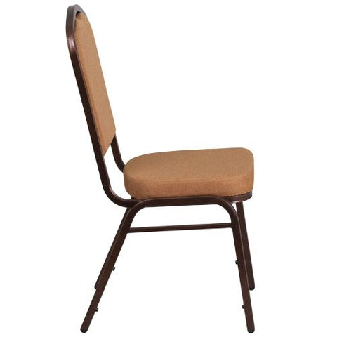 Flash Furniture HERCULES Series Crown Back Stacking Banquet Chair in Light Brown Fabric - Copper Vein Frame FDC01C4GG ; Image 2 ; UPC 889142074939