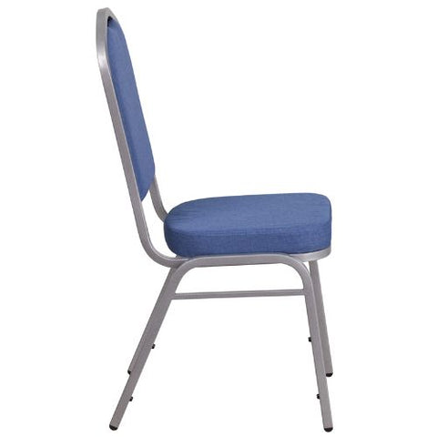 Flash Furniture HERCULES Series Crown Back Stacking Banquet Chair in Blue Fabric - Silver Frame FDC01S7GG ; Image 2 ; UPC 889142075028