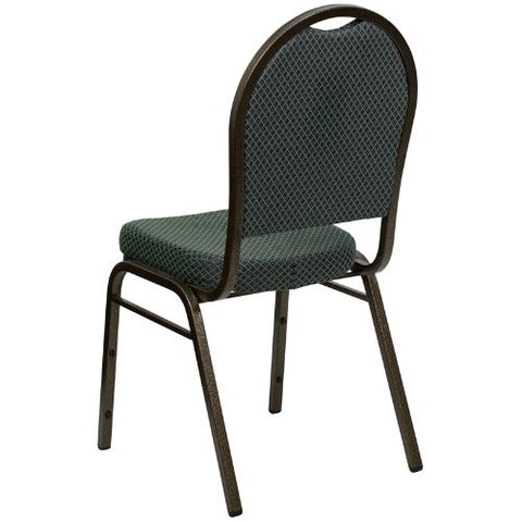 Flash Furniture HERCULES Series Dome Back Stacking Banquet Chair in Green Patterned Fabric - Gold Vein Frame FDC03GOLDVEIN4003GG ; Image 3 ; UPC 847254007115