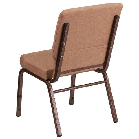 Flash Furniture HERCULES Series 18.5''W Stacking Church Chair in Caramel Fabric - Copper Vein Frame FDCH02185CVBNGG ; Image 3 ; UPC 889142075332