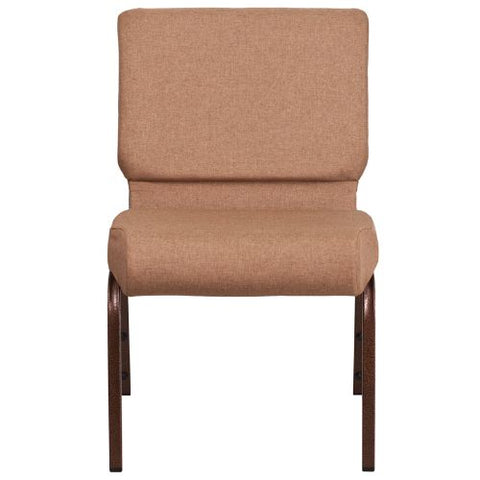 Flash Furniture HERCULES Series 21''W Stacking Church Chair in Caramel Fabric - Copper Vein Frame FDCH02214CVBNGG ; Image 4 ; UPC 889142066040