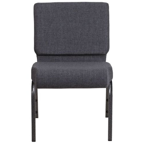 Flash Furniture HERCULES Series 21''W Church Chair in Dark Gray Fabric - Silver Vein Frame FDCH02214SVDKGYGG ; Image 4 ; UPC 889142066101