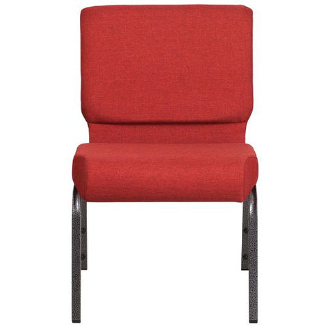 Flash Furniture HERCULES Series 21''W Stacking Church Chair in Crimson Fabric - Silver Vein Frame FDCH02214SVREDGG ; Image 4 ; UPC 889142066125