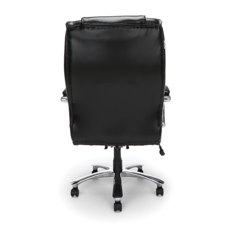 OFM  810-LX Big and Tall Executive High Back Chair, Leather, Black ; UPC: 845123031773 ; Image 3