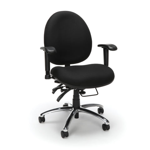 OFM 24 Hour Big and Tall Ergonomic Task Chair - Computer Desk Swivel Chair with Arms, Black (247) ; UPC: 845123031377 ; Image 1
