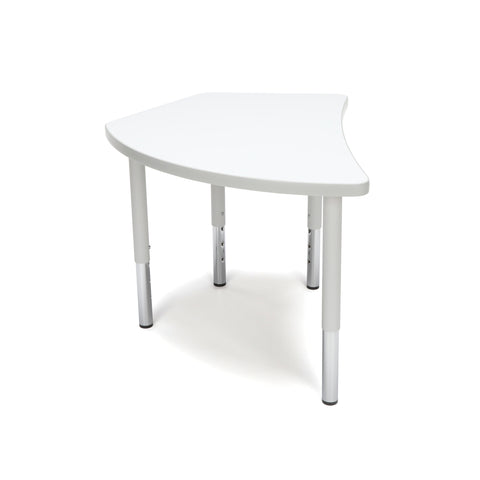 OFM Adapt Series Crescent Student Table - 18-26? Height Adjustable Desk, White (CREST-SL) ; UPC: 845123096291 ; Image 4