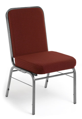 OFM Comfort Class Series Model 300-SV Fabric Stack Chair with Silver Vein Frame, Pinpoint Burgundy ; UPC: 811588013425 ; Image 1