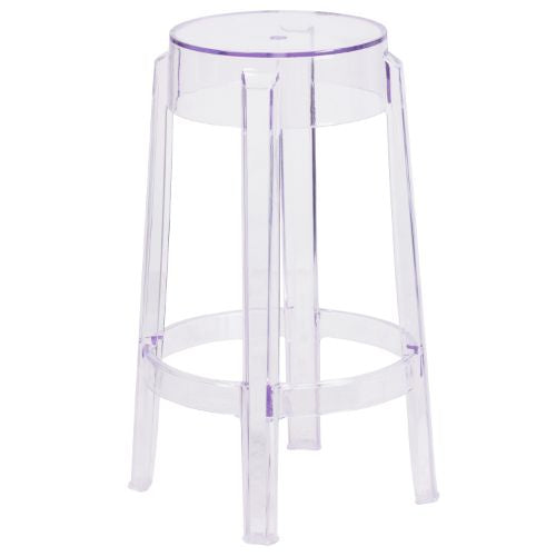 Flash Furniture 25.75'' High Transparent Counter Height Stool FH118APC1GG ; Image 1 ; UPC 889142060673
