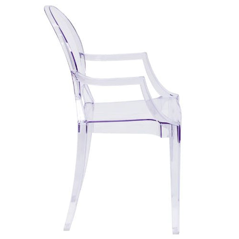 Flash Furniture Ghost Chair with Arms in Transparent Crystal FH124APCCLRGG ; Image 2 ; UPC 847254060523