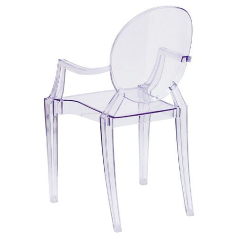 Flash Furniture Ghost Chair with Arms in Transparent Crystal FH124APCCLRGG ; Image 3 ; UPC 847254060523