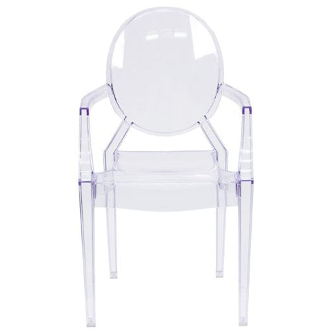 Flash Furniture Ghost Chair with Arms in Transparent Crystal FH124APCCLRGG ; Image 4 ; UPC 847254060523