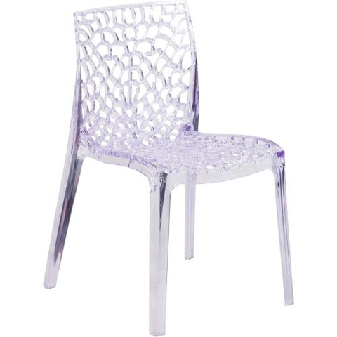 Flash Furniture Vision Series Transparent Stacking Side Chair FH161APCGG ; Image 1 ; UPC 889142060734