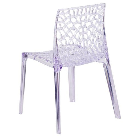 Flash Furniture Vision Series Transparent Stacking Side Chair FH161APCGG ; Image 3 ; UPC 889142060734
