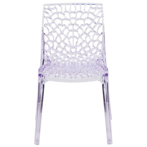 Flash Furniture Vision Series Transparent Stacking Side Chair FH161APCGG ; Image 4 ; UPC 889142060734