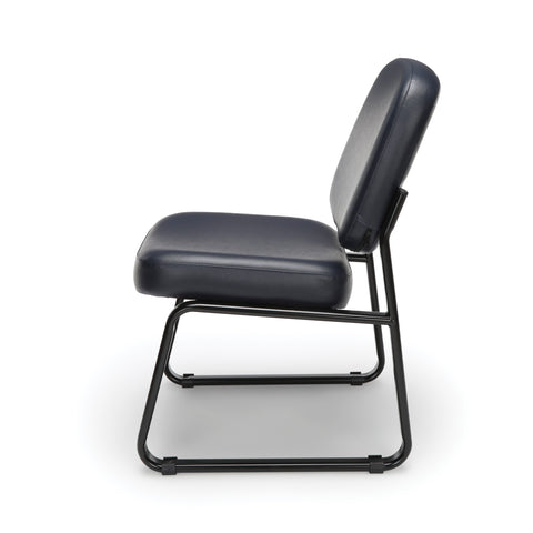 OFM Model 405-VAM Armless Guest and Reception Chair, Anti-Microbial/Anti-Bacterial Vinyl, Navy ; UPC: 811588014354 ; Image 5
