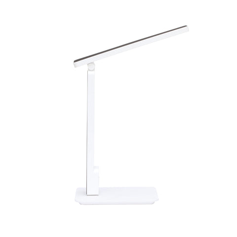 OFM 4025-WHT Industrial LED Desk Lamp with Touch Activated Switch and USB Charging Port, White ; UPC: 192767000840 ; Image 4