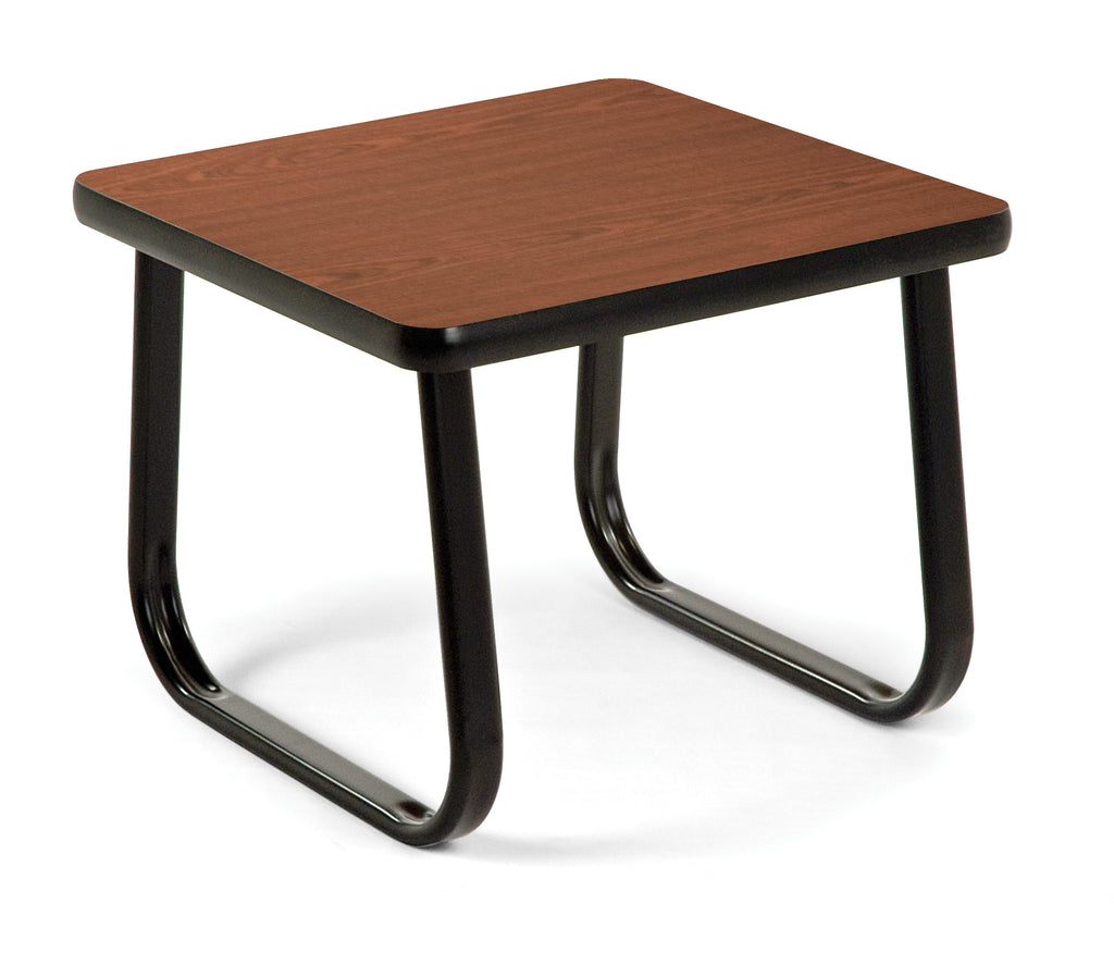 "OFM Model TABLE2020 20"" End Table with Sled Base, Mahogany ; UPC: 811588012350 ; Image 1"