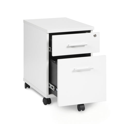 OFM Fulcrum Series Locking Pedestal, Mobile 2-Drawer Filing Cabinet, White (CL-MBF-WHT) ; UPC: 845123097519 ; Image 6